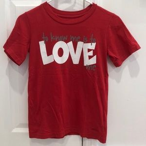 Girls Peace Love World red T-shirt